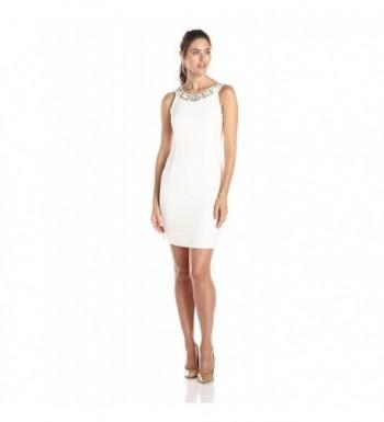 Sandra Darren Womens Sleeveless Embellished