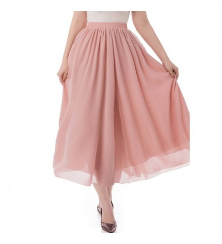 Malishow Womens Chiffon Pleated Skirts