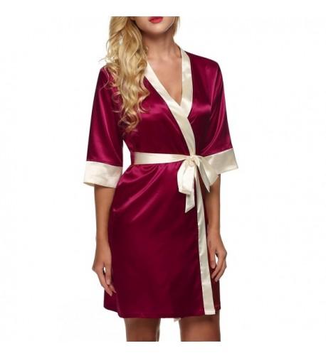 Dozenla Sleepwear Splicing Nightwear Nightdress