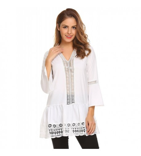 easther Womens Flowy Hollow Loose