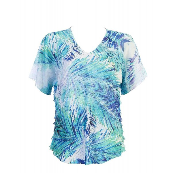 Jess Jane Ruffle Palm Fronds With Chiffon Dolman Sleeves Cc12nu77xq1