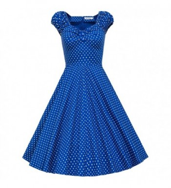 MUXXN Womens 1950s Vintage Dot