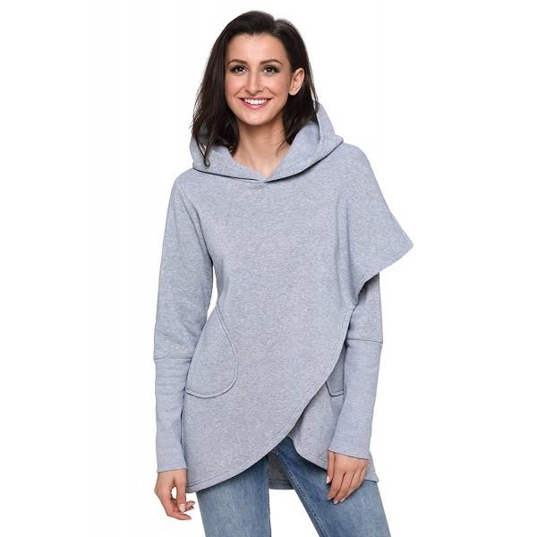 Womens Asymmetric Hoodie Sweatshirt XL