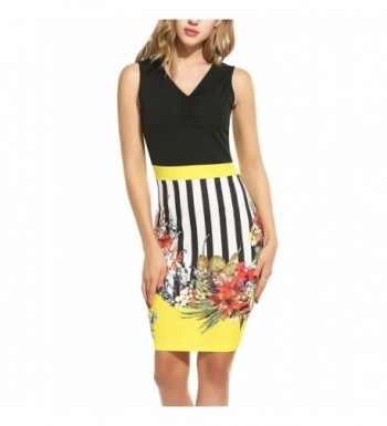 ANGVNS Womens Printed Business Bodycon