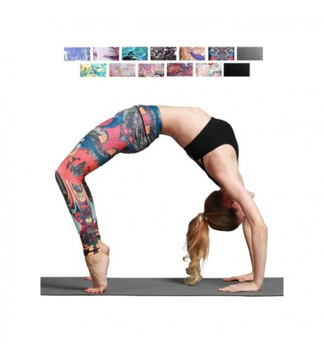 FINEMORE Printed Stretchy Pilates Leggings