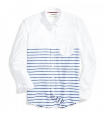 Goodthreads Standard Fit Long Sleeve Placed Stripe Stripes
