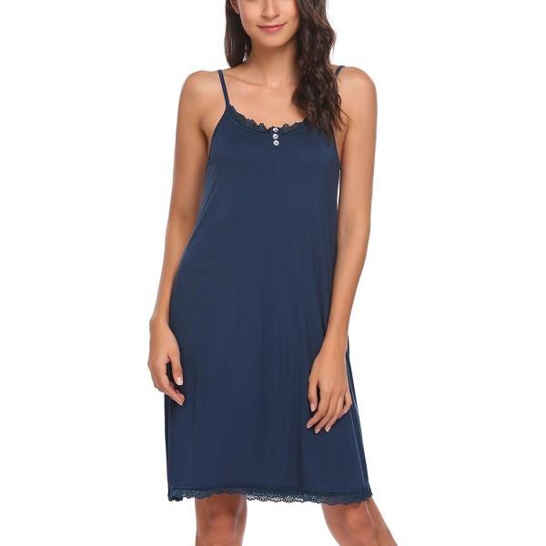 91ad2eb0cd Sleepwear Women Nightgown Lace Chemise Full Slip Night Dress With ...