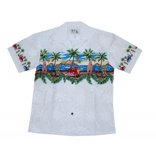 HAWAIIAN WOODY ALOHA SHIRT WHITE