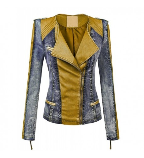 WJC1018 Womens Leather Collarless Jacket