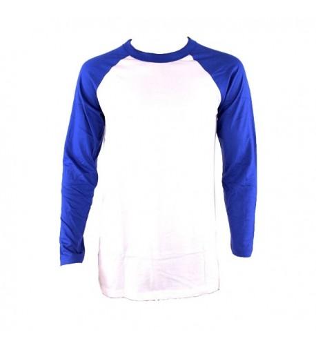 Knocker Sleeve Baseball Shirt White Royal Medium