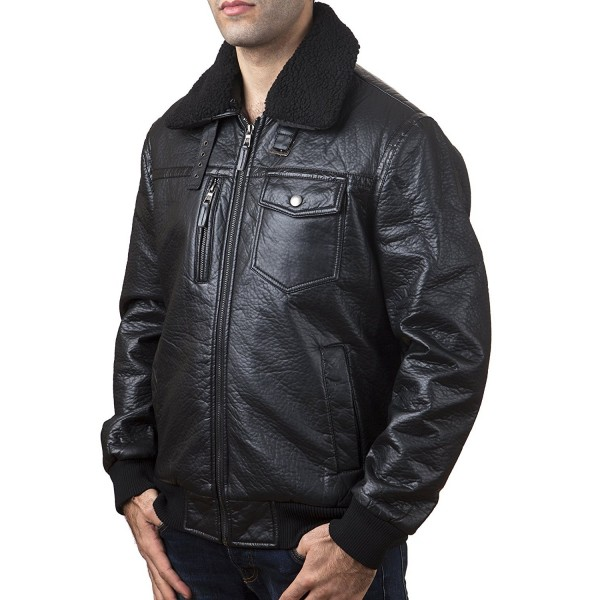K Collection Front Faux Leather Jacket