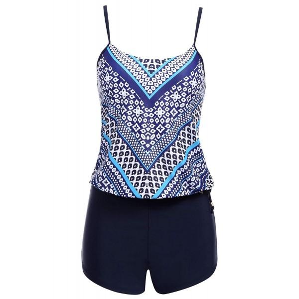 Lamore Womens Swimsuit Tankini 5976 Blue