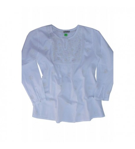Ayurvastram Cotton Embroidered Tunic Blouse