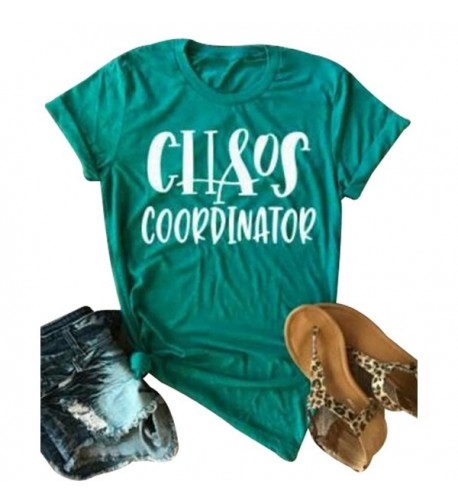 Coordinator Letters T Shirt Sleeve Casual