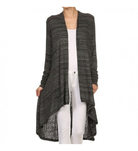 ReneeC Womens Lightweight Draped Cardigan