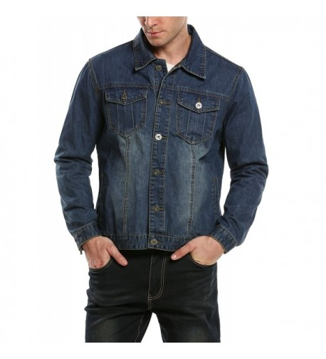 Hotouch Mens Light Denim Jacket
