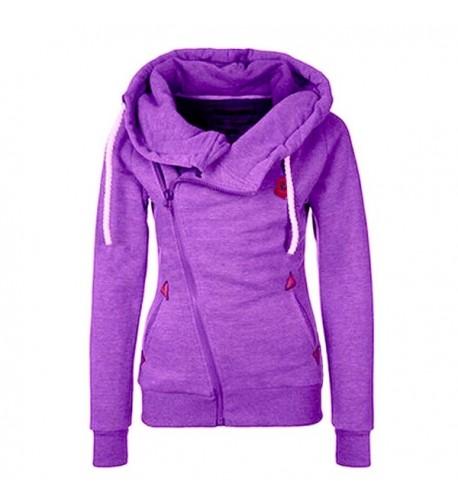 FANTIGO Oblique Sweatshirt Purple XXL