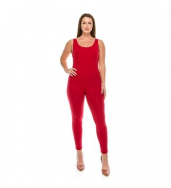 Classic Stretch Sleeveless Jumpsuit Bodysuits
