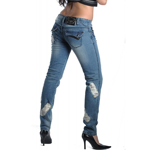 Womens Ripped Poison Heart Jeans