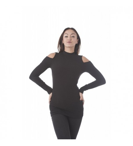 Sleeve Ribbed Shoulder Small Black