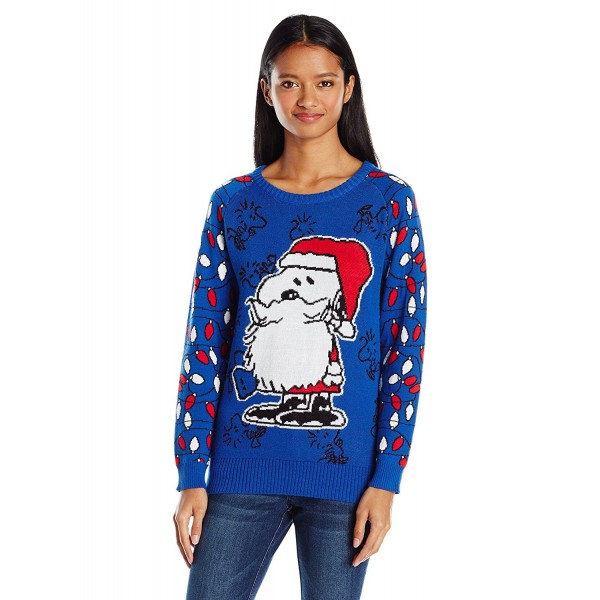 Christmas Sweater Women.Women S Snoopy Santa Christmas Sweater Blue C712m8x5ybx