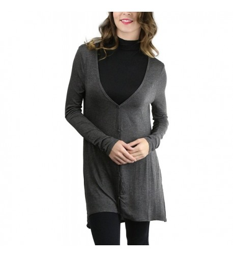 ToBeInStyle Womens Loose Button Cardigan
