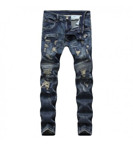 ONTTNO Ripped Skinny Distressed 001Blue