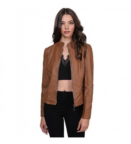 Basic Rider Leather Zippered Jacket