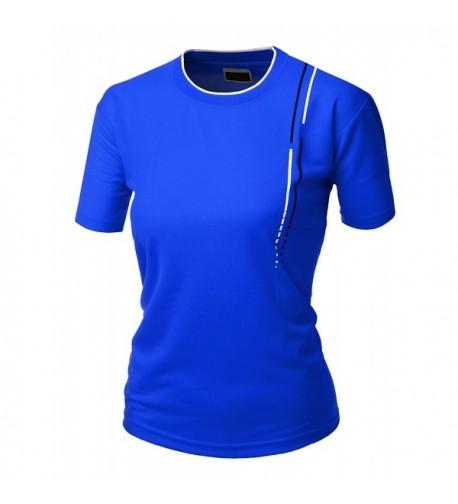 Womens coolon sleeve collar COBALTWHITE