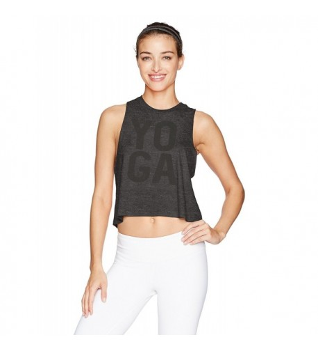 Alo Yoga Womens Graphic Charcoal