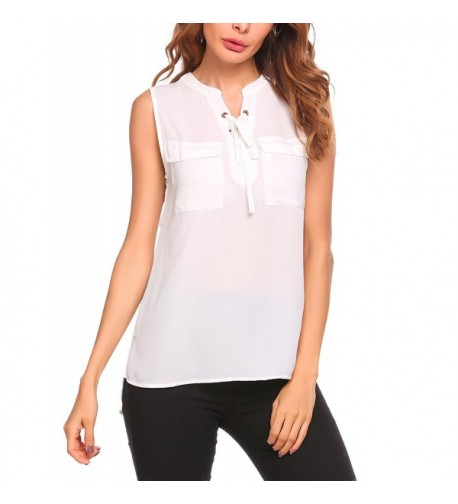 Womens Casual Summer Blouse Sleeveless