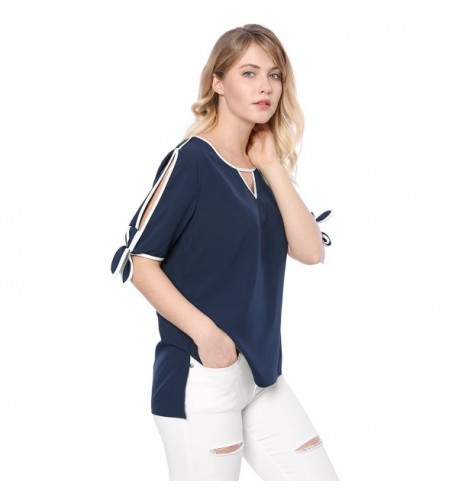 Allegra Womens Cut out Front Contrast