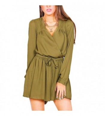 YUMDO Sleeve Cross Romper Jumpsuit
