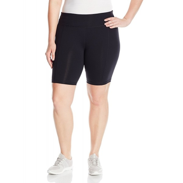 36b498c456 Women s Plus Size Premier Basix Nylon Bike Short - Black - CZ12F6896O3
