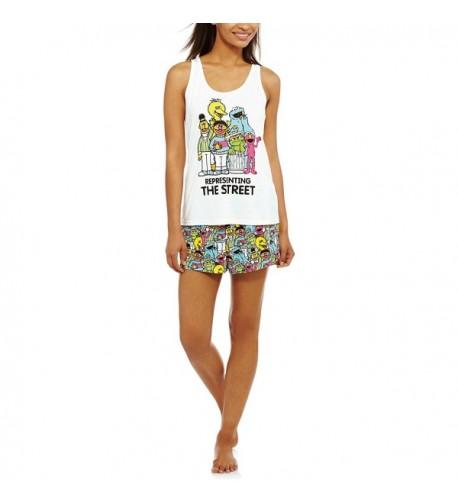 Sesame Street Womens 2 Piece Sleepwear