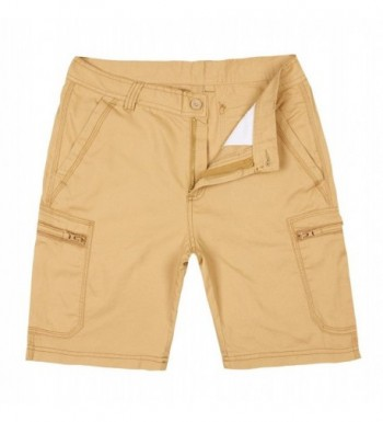 Buytop Shorts Multi Pocket Cotton DK 001Khaki38