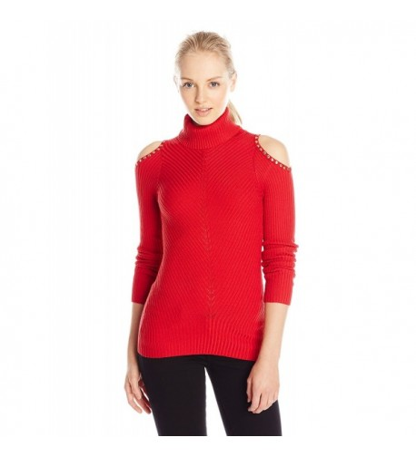 XOXO Juniors Shoulder Turtleneck Pullover