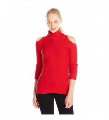 XOXO Juniors Shoulder Turtleneck Pullover