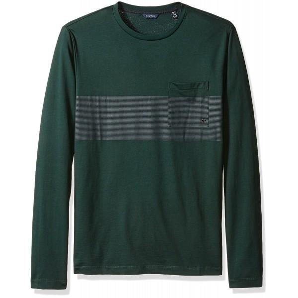 Nautica Chest Stripe Sleeve T Shirt