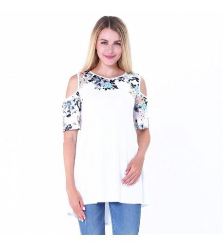 Womens Shoulder Shirt Dress Blouse