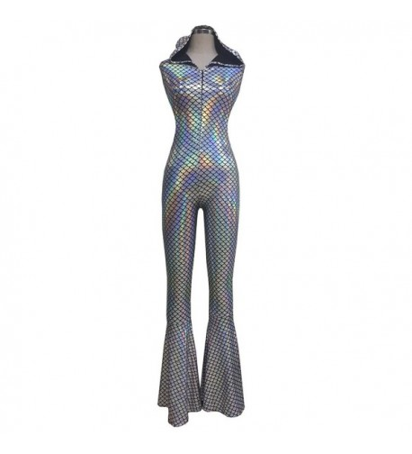 Iridescent Holographic Mermaid Jumpsuit Bodysuit