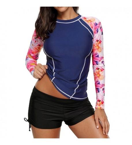 Dearlovers Womens Sleeve Athletic Tankini