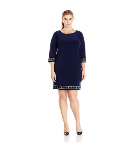 Tiana Womens Plus Size Sleeve Embellished