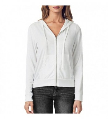 1eaed3aa7b Women s Lightweight Full Zip Up Soft French Terry Hoodie Sweater ...