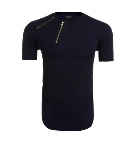 COOFANDY Sleeve Longline Hipster T Shirts