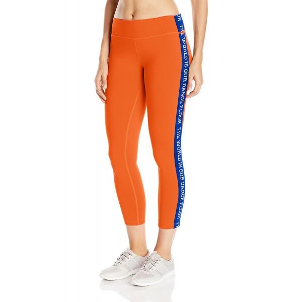 Zumba Womens Bassperfect Leggings Orange