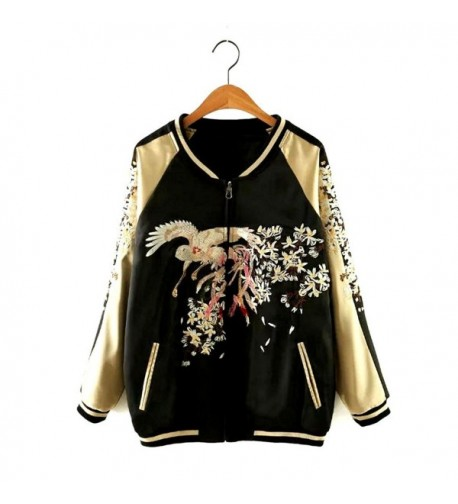 Womens Reversible Lightweight Embroider Bomber
