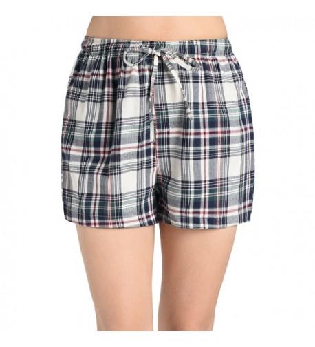Latuza Womens Plaid Sleep Shorts