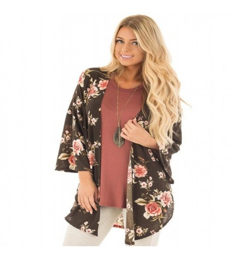 She life Womens Floral Lightweight Cardigan