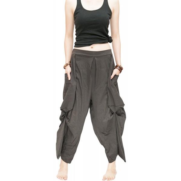 fc8d200db43 ... Loose Fit Cropped Harem Pants Oversize Pockets Drape Winglet - Charcoal  - CR182SKKL72. BohoHill Cropped Oversize Pockets Charcoal